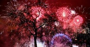 Fuoco d'artificio di Londra Fotografia Stock