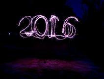 Fuoco d'artificio di nuovo anno Fotografie Stock