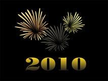 Fuoco d'artificio di Silvester Immagini Stock Libere da Diritti
