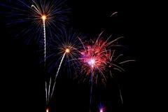 fuoco d'artificio di ulticolor di notte Fotografia Stock Libera da Diritti
