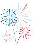 Fuoco d'artificio di vettore Fotografie Stock Libere da Diritti