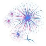 Fuoco d'artificio di vettore Immagini Stock Libere da Diritti