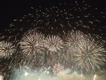 Fuoco d'artificio e fumo Fotografie Stock