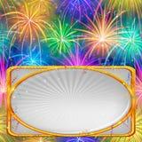 Fuoco d'artificio, fondo di festa Immagini Stock