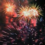 Fuoco d'artificio (fuochi d'artificio) Immagini Stock