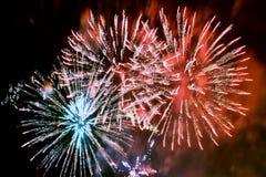 Fuoco d'artificio (fuochi d'artificio) Fotografia Stock Libera da Diritti