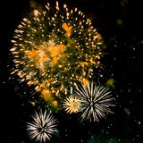 Fuoco d'artificio (fuochi d'artificio) - foto di riserva Fotografie Stock Libere da Diritti