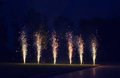 Fuoco d'artificio luminoso, celebrazione - concetto Fotografia Stock Libera da Diritti