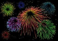 Fuoco d'artificio maestoso Immagini Stock