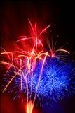 Fuoco d'artificio multicolore Fotografie Stock Libere da Diritti