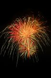 Fuoco d'artificio naturale con lo spazio della copia Immagini Stock Libere da Diritti