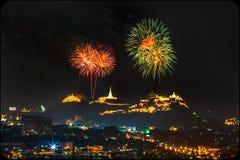 Fuoco d'artificio nel festival di notte Immagine Stock Libera da Diritti