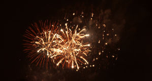 Fuoco d'artificio a Praga Fotografia Stock