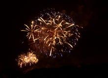 Fuoco d'artificio a Praga VI Immagine Stock