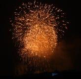 Fuoco d'artificio a Praga VIII Fotografia Stock Libera da Diritti