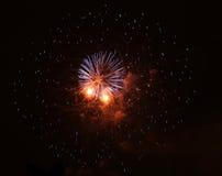Fuoco d'artificio a Praga XI Immagine Stock