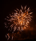 Fuoco d'artificio a Praga XII Fotografia Stock