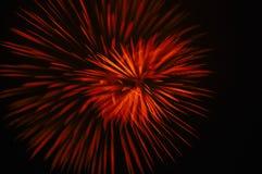 Fuoco d'artificio rosso Fotografie Stock Libere da Diritti