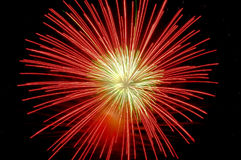 Fuoco d'artificio rosso Immagine Stock Libera da Diritti