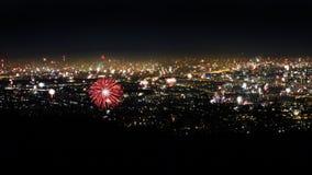 fuoco d'artificio sopra Vienna immagini stock libere da diritti