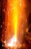 Fuoco d'artificio su Diwali Fotografie Stock