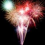 Fuoco d'artificio su fondo nero Fotografia Stock Libera da Diritti