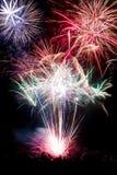 Fuoco d'artificio su fondo nero Immagine Stock Libera da Diritti