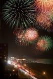Fuoco d'artificio su il quarto luglio Fotografia Stock Libera da Diritti