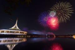 Fuoco d'artificio a Suanluang RAMA IX fotografia stock libera da diritti