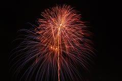 Fuoco d'artificio sulla festa del papà Fotografia Stock