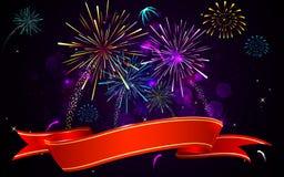 Fuoco d'artificio variopinto Fotografie Stock