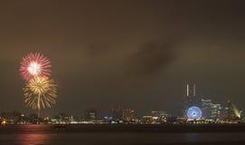 Fuoco d'artificio variopinto Fotografia Stock Libera da Diritti