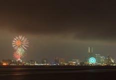 Fuoco d'artificio variopinto Fotografia Stock