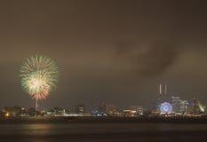 Fuoco d'artificio variopinto Immagini Stock
