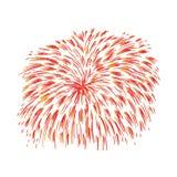 Fuoco d'artificio variopinto disegnato a mano Immagine Stock Libera da Diritti