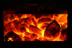 Fuoco del carbone Fotografie Stock