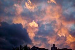 Fuoco del cielo Fotografia Stock Libera da Diritti