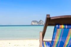 Fuoco del fondo di tempo di vacanza sulle isole Fotografia Stock