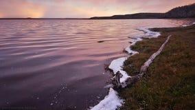 Fuoco del lago Fotografie Stock Libere da Diritti