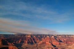 Fuoco del parco nazionale di Grand Canyon Fotografia Stock