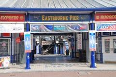 Fuoco del pilastro di Eastbourne, luglio 2014 Immagini Stock