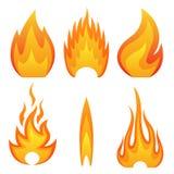 Fuoco della fiamma Immagine Stock Libera da Diritti