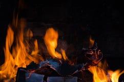 Fuoco della fiammata dalla fiamma Immagini Stock