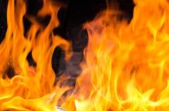 Fuoco della fiammata dalla fiamma Fotografie Stock Libere da Diritti