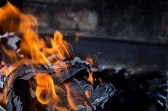 Fuoco della fiammata dalla fiamma Immagine Stock Libera da Diritti