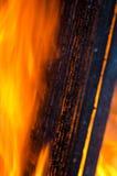 Fuoco della fiammata dalla fiamma Immagine Stock
