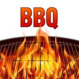 Fuoco della griglia del BBQ Immagine Stock