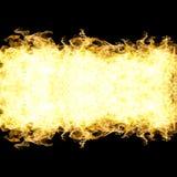Fuoco delle fiamme isolate su fondo nero Fotografia Stock