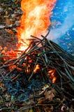 fuoco di accampamento Fotografia Stock