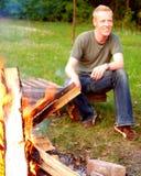 fuoco di accampamento Fotografia Stock Libera da Diritti
